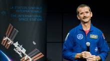 Astronaut Chris Hadfield smiles during a press conference at the Canadian Space Agency, Longueuil, Que., September 2, 2010, announcing him as the first Canadian commander of the International Space Station when he leaves in December, 2012. (Graham Hughes/THE CANADIAN PRESS)