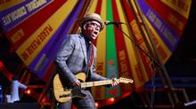 Elvis Costello performs at the Orpheum Theatre in Vancouver on April 10, 2012. (Jeff Vinnick/The Globe and Mail)