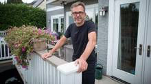 Homeowner Tom Haberstroh, who rents out his Vancouver basement on Airbnb, says he wouldn't object to a tax on Airbnb units. (DARRYL DYCK/THE GLOBE AND MAIL)