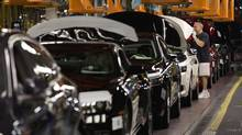 The General Motors automobile assembly plant in Oshawa, Ont. Auto makers are upset fuming over a provision in the Trans-Pacific Partnership that would phase out tariffs on imported vehicles. (Moe Doiron/The Globe and Mail)