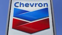 A Chevron gas station sign is seen in Del Mar, California, in this April 25, 2013 file photo. (Mike Blake/REUTERS)
