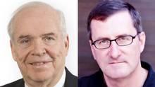 Derek Burney, left, and Fen Hampson