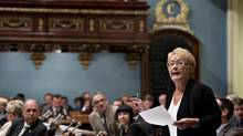 Quebec Premier Pauline Marois respond to Opposition questions as the legislature resumes for its fall session Tuesday, September 17, 2013 at the legislature in Quebec City. THE CANADIAN PRESS/Jacques Boissinot (Jacques Boissinot/THE CANADIAN PRESS)