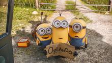 In Minions, Bob, Kevin and Stuart learn about the Villain-Con taking place in Orlando, and they head off in search of a new evil master. (Universal Pictures/Universal Pictures and Illumination Entertainment)