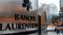 File photo of Laurentienne Bank's main branch in downtown Montreal. (John Morstad/John Morstad/The Globe and Mail)