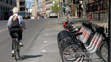 BIXI, a public bike-rental system, was launched in Montreal in May, 2009, with more than 3,000 bicycles available at 300 stations across the city. (CHRISTINNE MUSCHI/REUTERS)