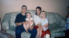 Sergeant Paul Martin with his wife, Helene Bilodeau, and their two daughters, Élody and Cloé, when they were living in Valcartier. Que., in 2002. (Courtesy Hélène Bilodeau)