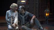 Sara Farb as Jessica and Tyrone Savage as Lorenzo in The Merchant of Venice. (David Hou/Stratford Theatre Festival)