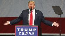 Donald Trump, 2016 Republican presidential nominee, speaks during a campaign event in Henderson, Nevada, U.S., on Wednesday, Oct. 5. (Patrick T. Fallon/Bloomberg)