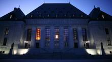 The Supreme Court of Canada building in Ottawa. (DAVE CHAN FOR THE GLOBE AND MAIL)