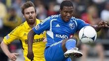 The Montreal Impact travel to Harrison, New Jersey to face the New York Red Bulls on Saturday. In this file photo Montreal Impact's Patrice Bernier (8) controls the ball against the Columbus CrewMontreal Impact's Patrice Bernier (8) controls the ball against the Columbus Crew during the first half of an MLS soccer game, Saturday, March 24, 2012, in Columbus, Ohio. (AP Photo/The Columbus Dispatch, Eamon Queeney) (Eamon Queeney/AP)