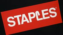 A Staples logo is seen at a store, Monday, Dec. 1, 2008 in Boston. (Lisa Poole/AP/Lisa Poole/AP)