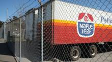 A file photo from August, 2008, shows a parked truck with the logo of Maple Leafs Foods, at the back entrance of the processing plant on Bartor Rd., Toronto. The plant was linked to several deaths from listeriosis. (Fernando Morales/The Globe and Mail/Fernando Morales/The Globe and Mail)