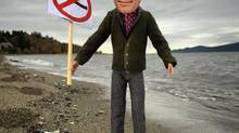 Vancouver mayoral candidate Gregor Robertson has said a priority for Vision is to say no to to Kinder Morgan and the 340 more oil tankers which will make its way through the harbour if allowed to go ahead. (John Lehmann/The Globe and Mail)