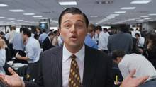 Leonardo DiCaprio stars as Jordan Belfort in The Wolf of Wall Street, coming in November.