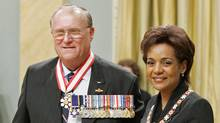 Retired Col. Don Ethell shown with Gov.-Gen. Michaelle Jean at the Order of Canada inductions in 2006. (Fred Chartrand/The Canadian Press)