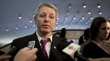 Councillor Adam Vaughan talks to reporters March 8, 2011. (Moe Doiron/The Globe and Mail)