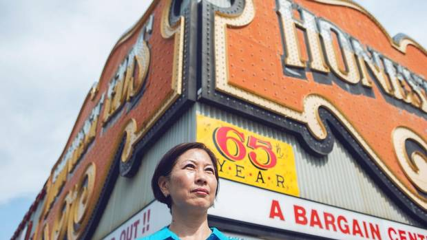 Liz Noh and her family regularly shopped at Honest Ed's when they first immigrated to Canada from South Korea. (JENNIFER ROBERTS For the Globe and Mail)