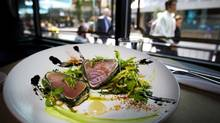 The tempura albacore tuna dish is pictured at Blackbird Public House & Oyster Bar in Vancouver on August 21, 2014. (Ben Nelms for The Globe and Mail)