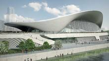 A CGI representation of the London Olympic Aquatics Centre. (ODA)