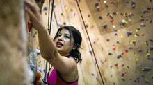 Bel Arneson, TV chef and author and rock climber seen here at the Cliffhanger in Coquitlam Febuary 7, 2011. (JOHN LEHMANN/JOHN LEHMANN/THE GLOBE AND MAIL)