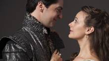 Daniel Briere as Romeo and Sara Topham as Juliet in Romeo and Juliet, the opening production at the 2013 Stratford Festival. (Don Dixon)