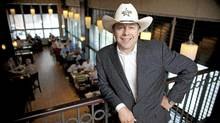 "Calgary bar owner Paul Vickers who runs Penny Lane Entertainment, has built a 50,000 sq. foot tent on the grounds of the Calgary Stampede and once again will open the famous ""cowboys"" nightclub. (Chris Bolin Photography Inc./CHRIS BOLIN / FOR THE GLOBE AND MAIL)"