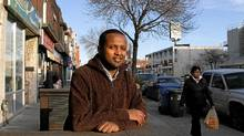 Ethiopian-born Canadian citizen Samuel Getachew is trying to change the name of a section of Danforth Ave., to Little Ethiopia. Photographed on Danforth Ave near Coxwell street. (Fernando Morales/The Globe and Mail/Fernando Morales/The Globe and Mail)
