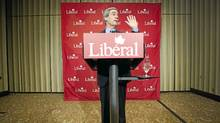 Michael Ignatieff announces his resignation as the leader of the Liberal Party at a press conference in Toronto, Ont. May 3/2011. (Kevin Van Paassen/The Globe and Mail)
