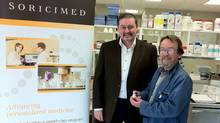 Paul Gunn, left, and Prof. Jack Stewart together set up Soricimed Biopharma Inc.
