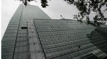 Slim blades, attached to the RBC Centre's first 10 floors, reduce glare while allowing in maximum daylight. (J.P. MOCZULSKI)