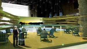 An artist's rendering of the Experience Canada Alley, or 'fake lake,' being built for the G20 summit in Toronto.