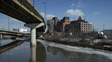 Plans for the Unilever site at the mouth of the Don River include radical changes to the Gardiner: The highway will need to be either reconfigured or its eastern section dismantled. (Chris Young for The Globe and Mail)