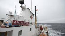 Onboard the CCGS Amundsen on an Arctic research cruise, Sept. 14, 2014. (Ivan Semeniuk/The Globe and Mail)