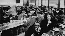 A Montreal soup kitchen in 1931. (CP/National Archives of Canada))