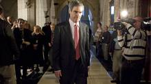 Liberal Leader Micheal Ignatieff walks away from a media scrum in the foyer of the House of Commons on Monday, November 23, 2009.