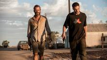 A Still of Guy Pearce and Robert Pattinson in The Rover (Matt Nettheim)