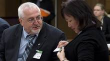 Allan Hubley, father of Jamie Hubley, left, and Carol Todd, mother of Amanda Todd, right (Adrian Wyld/THE CANADIAN PRESS)