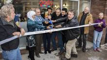 The opening of the Oasis Mediterranean Grill in Peterborough, Ont. (Joel Weibe/Downtown Peterborough)