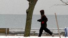 A runner photographed while exercising along Lake Ontario, Toronto January 19, 2011. (Fernando Morales/The Globe and Mail/Fernando Morales/The Globe and Mail)