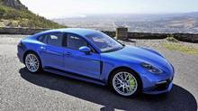 Porsche says the 2018 Panamera 4 E-Hybrid will travel up to 50 kilometres on a battery charge. (JEREMY SINEK/THE GLOBE AND MAIL)
