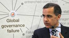 Bank of Canada Governor Mark Carney speaks during a session at the World Economic Forum in Davos, Switzerland, on Wednesday. (Michel Euler/AP)