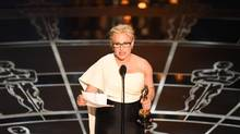 Patricia Arquette used her acceptance speech at the Oscars last month to demand equal pay for women. (ROBYN BECK/AFP/GETTY IMAGES)