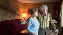 Helmut and Genie Vollmer from Calgary, Alberta are photographed in their home on Sunday, February 15, 2015. The couple, both in their 80s have lost over $400,000 since 2002 by investing in a Ponzi scheme. A jury has found Gary Sorenson and Milowe Brost guilty of fraud that bilked millions of dollars from investors between 1999 and 2008. (Chris Bolin For The Globe and Mail)