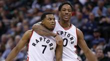 DeMar DeRozan says he will support Kyle Lowry's decision, whether or not he re-signs with Toronto as a free agent. (Jeffrey Swinger/USA Today Sports)
