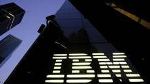 Last month, IBM approved a $15-billion increase to its repurchase program, prompting a 2.7-per-cent share spike the same day. But the announcement came soon after the company posted a decline in sales for the sixth straight quarter. (MARK LENNIHAN/AP)