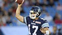 Toronto Argonauts quarterback Zach Collaros will have another crack at the Alouettes this week when the two teams meet in Montreal. (Frank Gunn/THE CANADIAN PRESS)