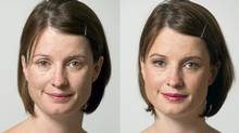 Courtney Shea decided to try going makeup free after the press fuss over HillaryClinton's daring move. (KEVIN VAN PAASSEN/THE GLOBE AND MAIL)
