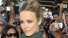 Rachel McAdams poses walks the red carpet to promote To the Wonder at the Toronto International Film Festival in Toronto, Monday, Sept. 10, 2012. (Michelle Siu/The Canadian Press)