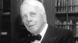 Robert Frost: a 'sententious holding-forth old bore, who expected every hero-worshipping adenoidal twerp of a student-poet to hang on his every word'